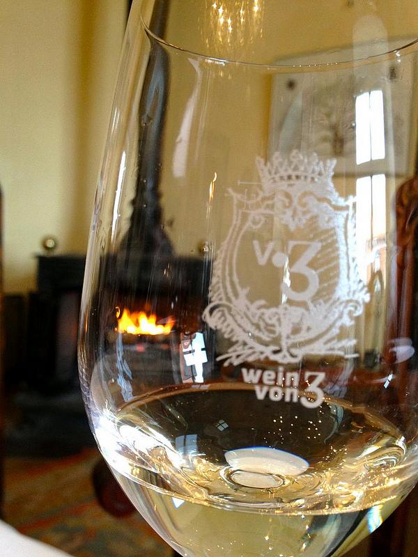 Wein von 3 Weinglas