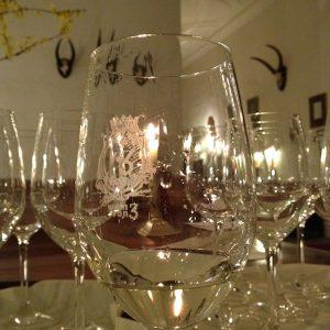 Wein von 3 Gläser im Einsatz