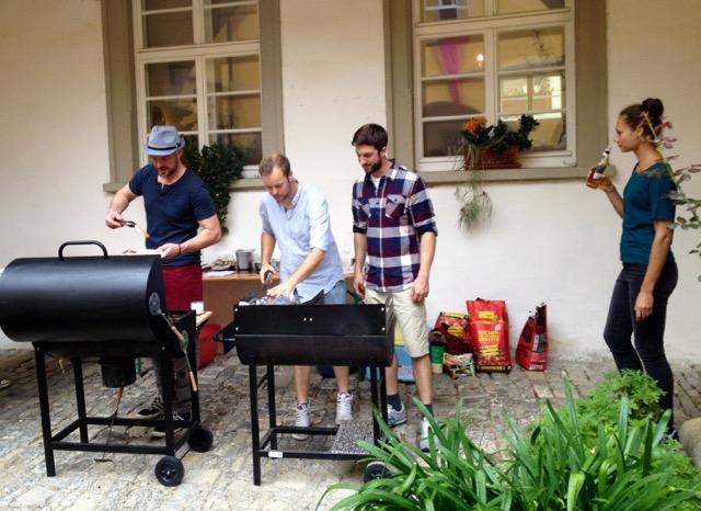 BBQ im Schlosshof des Barockschlosses Zeilitzheim