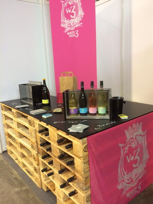 Messestand Wein von 3 Franken