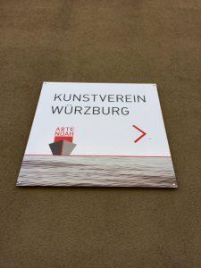 Kunstverein Würzburg Schild Kunstschiff